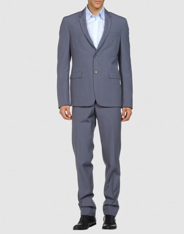 Jil Sander Men Two Button Gray Suit 1 Jil Sander Men Two Button Gray Suit