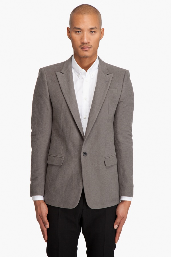 Marc Jacobs Gray Felt Blazer 1 Marc Jacobs Gray Felt Blazer