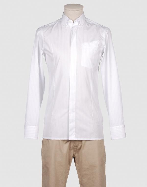 Long Sleeve White Cotton Shirt | Is Shirt