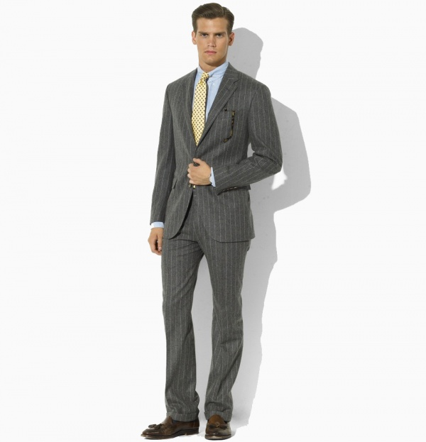 Ralph Lauren Grey Two Button Striped Suit 01 Ralph Lauren Grey Two Button Striped Suit