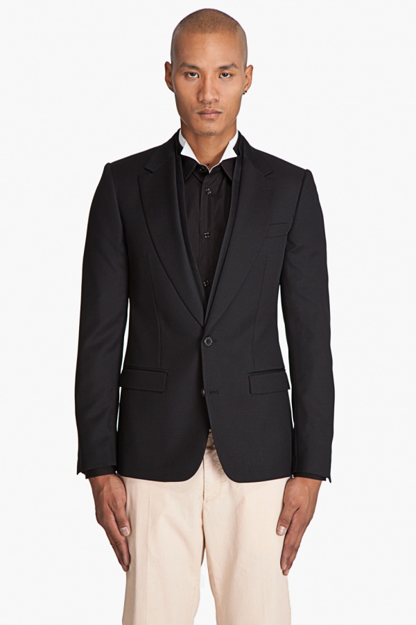 Viktor Rolf Slim Fit Black Blazer 1 Viktor & Rolf Slim Fit Black Blazer