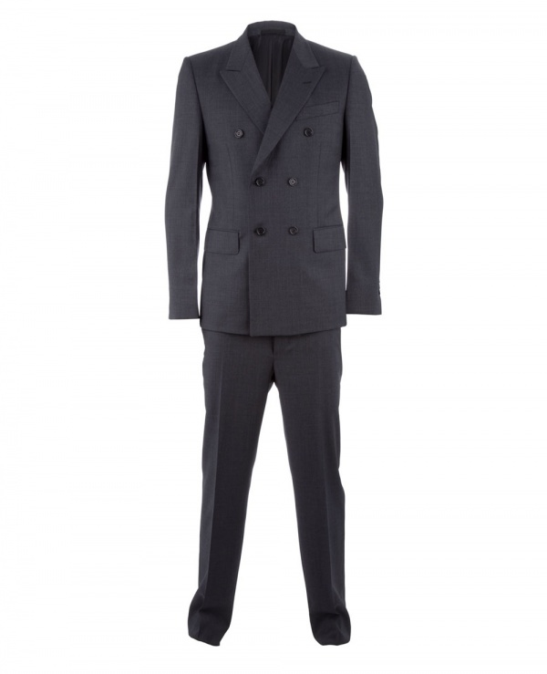 Yves Saint Laurent Double Breasted Grey Suit 1 Yves Saint Laurent Double Breasted Grey Suit