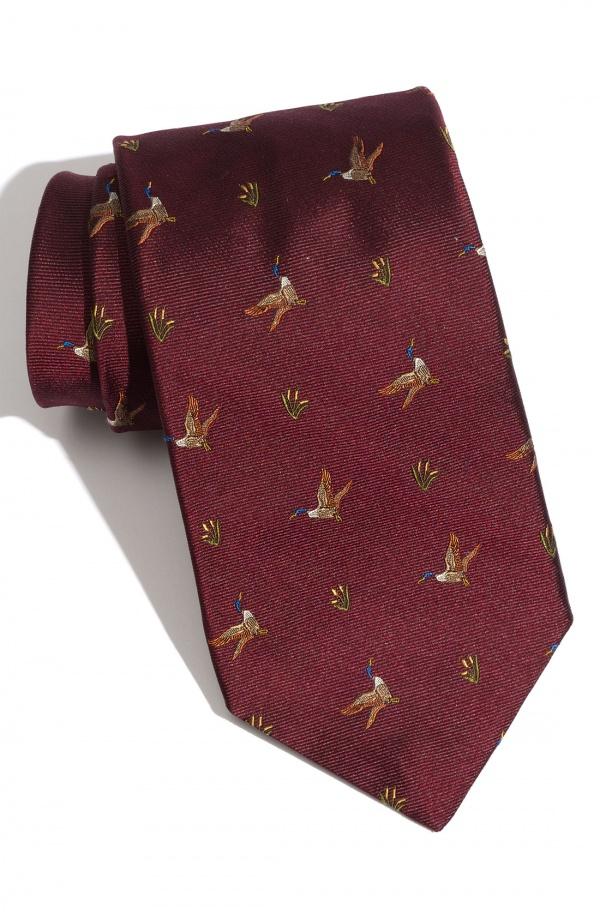 1901 Woven Silk Duck Tie 1901 Woven Silk Duck Tie