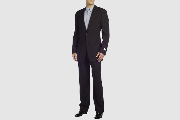 Armani Collezioni Charcoal Two Button Suit 1 Armani Collezioni Charcoal Two Button Suit