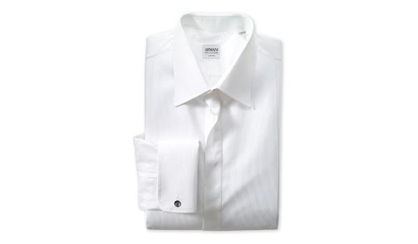 Armani Collezioni Trim Fit Tuxedo Shirt Armani Collezioni Trim Fit Tuxedo Shirt