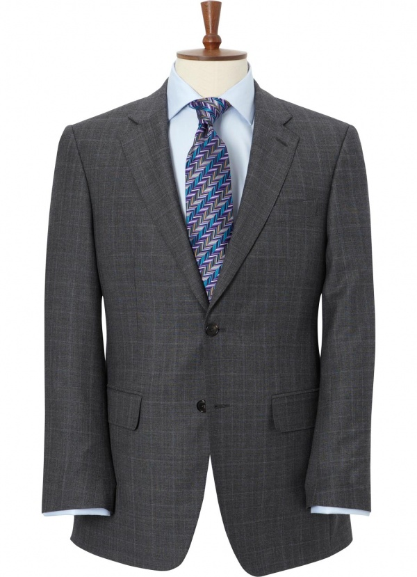 Austin Reed Classic Fit Prince Of Wales Check Two Button Suit Suitored