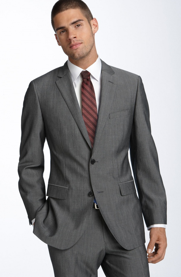 Calibrate Grey Wool Mohair Suit 1 Calibrate Grey Wool & Mohair Suit