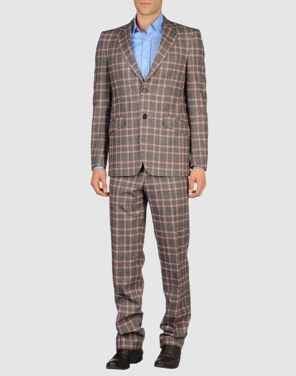 Etro Men Two Button Checked Suit 01 Etro Men Two Button Checked Suit