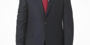 Gieves & Hawkes Navy Blue Herringbone Suit 1