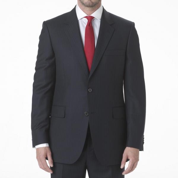 Gieves Hawkes Navy Blue Herringbone Suit 1 Gieves & Hawkes Navy Blue Herringbone Suit