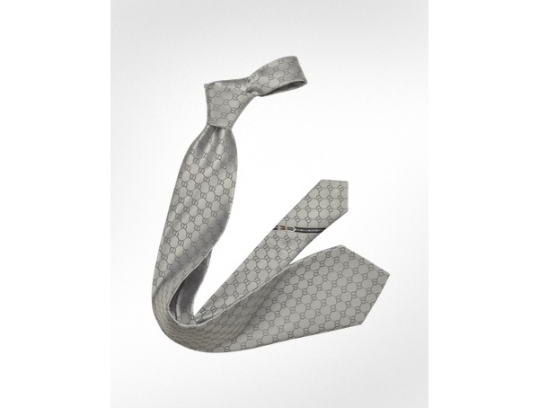 Gucci GG Diamond Pattern Silk Tie Gucci GG Diamond Pattern Silk Tie