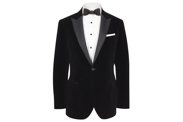 Hackett of London Peak Lapel Velvet Dinner Jacket Hackett of London Peak Lapel Velvet Dinner Jacket