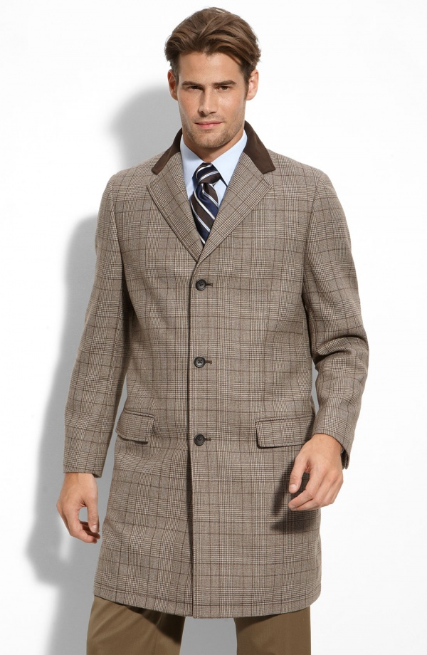 John W. Nordstrom Plaid Overcoat John W. Nordstrom Plaid Overcoat