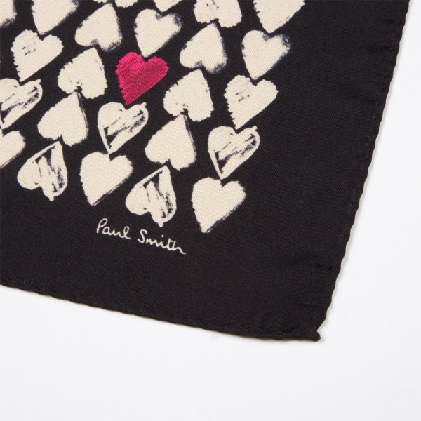 Paul Smith Mens Valentine Hearts Handkerchief 1 Paul Smith Mens Valentine Hearts Handkerchief