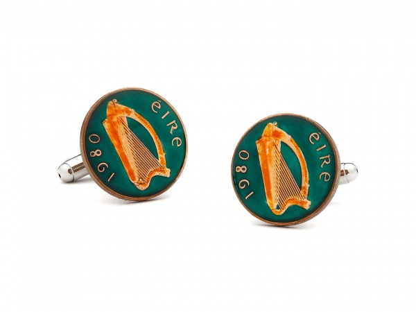 Penny Black 40 Irish Eire Cufflinks Penny Black 40 Irish Eire Cufflinks