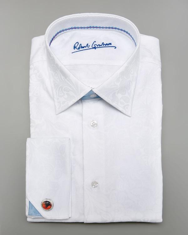 Robert Graham White Colin Paisley Shirt Robert Graham White Colin Paisley Shirt