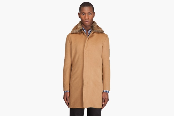 Shades of Grey Fur Collar Overcoat 1 Shades of Grey Fur Collar Overcoat