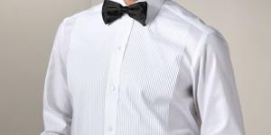 White Brioni Tuxedo Shirt
