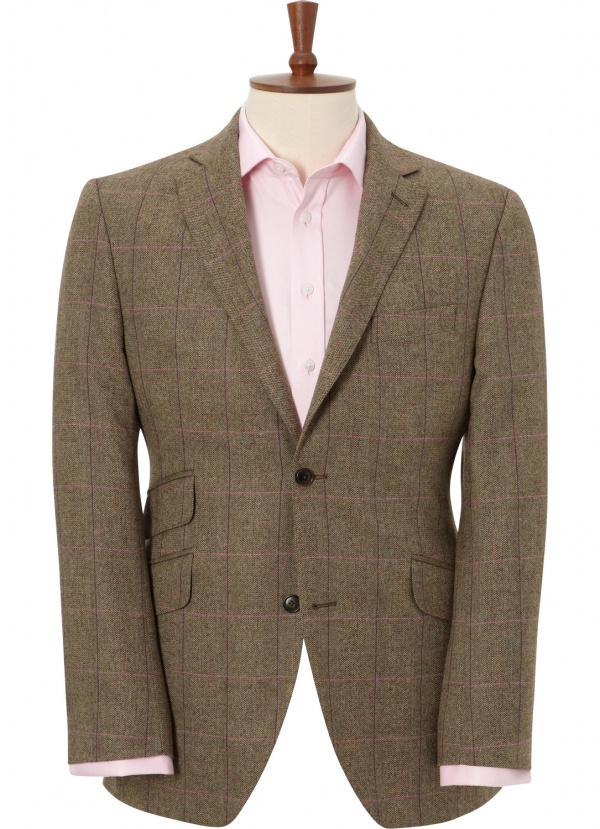 Austin Reed Brown Purple Check Sportcoat 1 Austin Reed Brown Purple Check Sportcoat