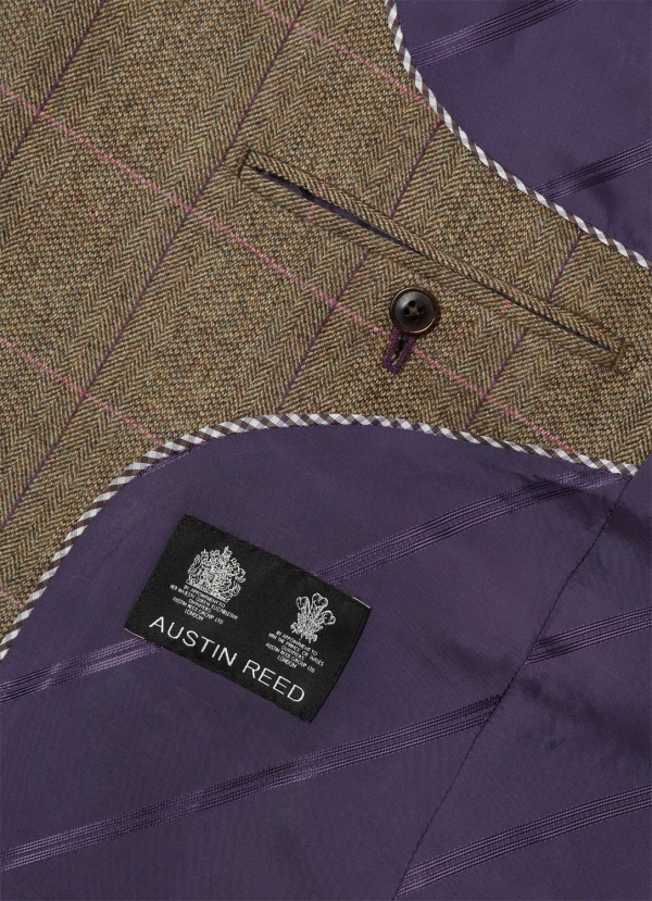 Austin Reed Brown Purple Check Sportcoat Suitored