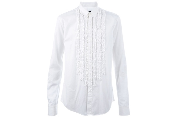 Balmain Ruched Shirt 1 Balmain Ruched Shirt