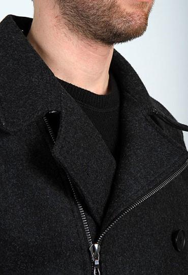 Blanc & Noir Wool Peacoat | Suitored