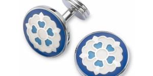Blue Tudor Rose Cufflinks by Charles Tyrwhitt