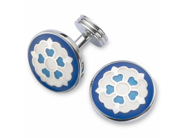 Blue Tudor Rose Cufflinks by Charles Tyrwhitt Blue Tudor Rose Cufflinks by Charles Tyrwhitt