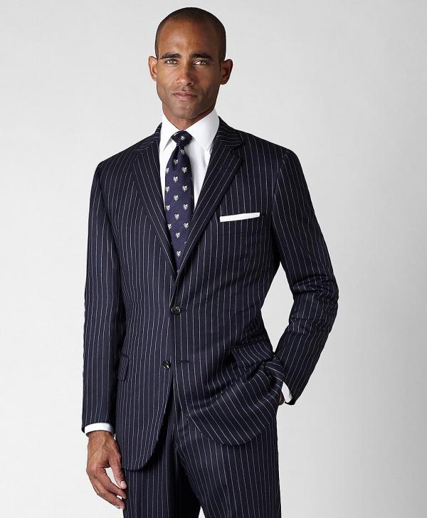 Brooks Brothers Golden Fleece Saxxon Bold Stripe Fitzgerald Fit Suit 1 Brooks Brothers Golden Fleece Saxxon Bold Stripe Fitzgerald Fit Suit