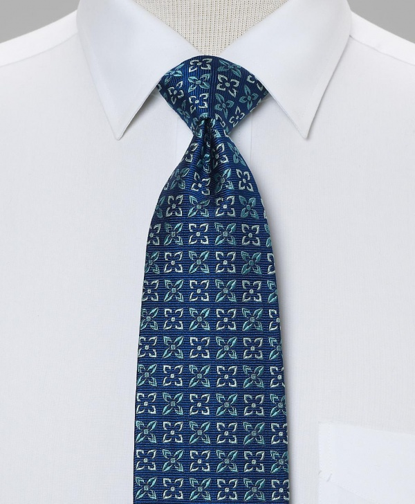 Brooks Brothers Tonal Flower Tie 1 Brooks Brothers Tonal Flower Tie