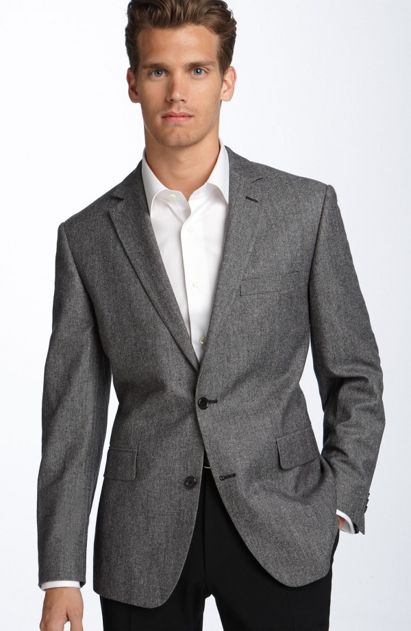 Calibrate Grey Twill Cotton Blend Sportcoat Calibrate Grey Twill Cotton Blend Sportcoat