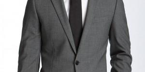 HUGO 'Aikonen' Grey Stretch Wool Suit 1