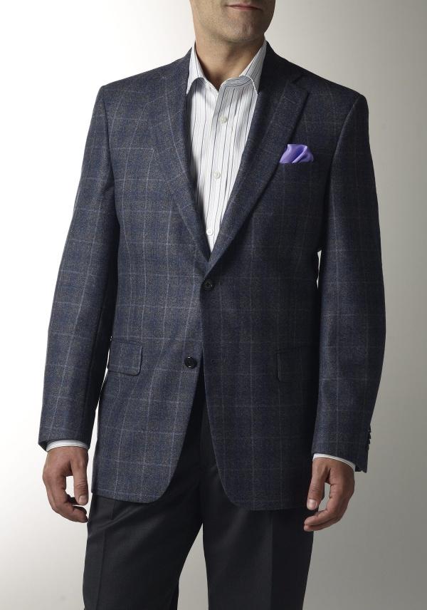 Hart Schaffner Marx Blue Windowpane Sportcoat Hart Schaffner Marx Blue Windowpane Sportcoat