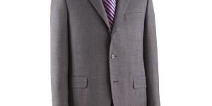J Press Pressclusive Grey Merino Sack Suit