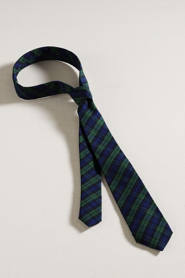 Lands End Canvas Tartan Necktie Lands End Canvas Tartan Necktie