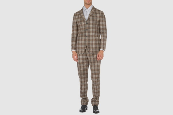 Roda Plaid Three Button Suit Roda Plaid Three Button Suit