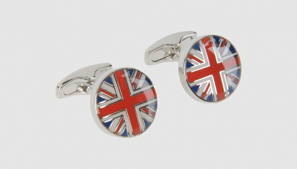 Simon Carter Round Union Flag Cufflinks Simon Carter Round Union Flag Cufflinks