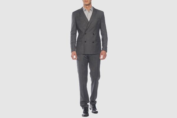 Tonello Grey Double Breasted Suit 1 Tonello Grey Double Breasted Suit