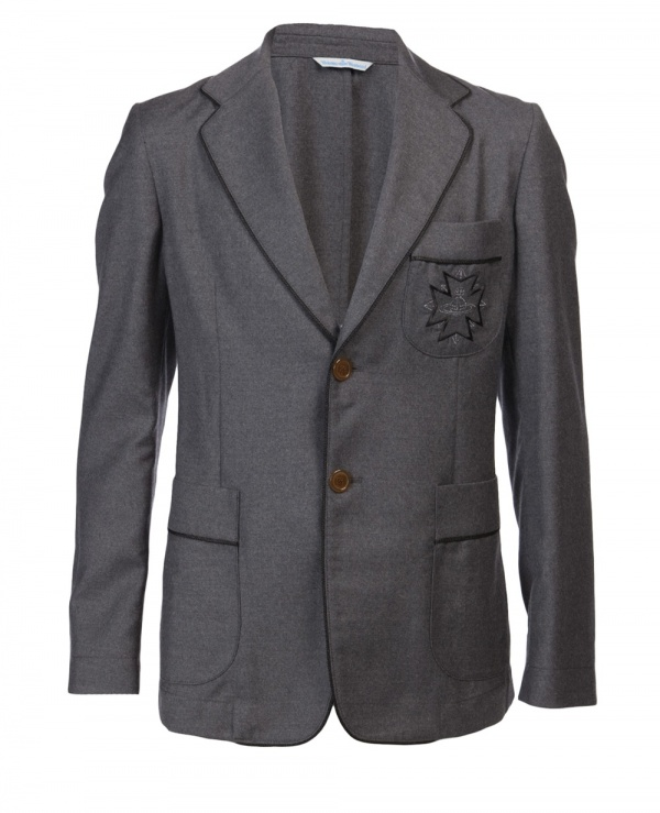 Vivienne Westwood Grey Wool Blazer01 Vivienne Westwood Grey Wool Blazer