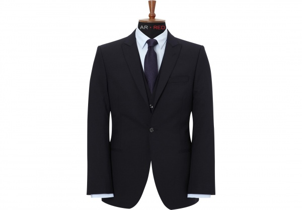 Austin Reed Red Navy Suit Suitored