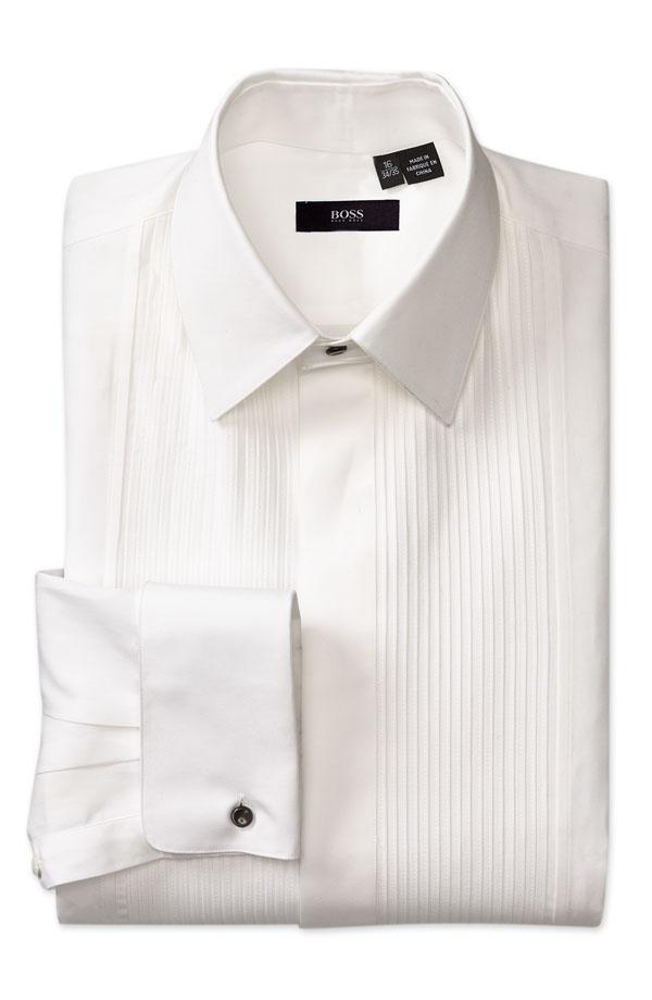 BOSS Black Classic Fit Tuxedo Shirt BOSS Black Classic Fit Tuxedo Shirt