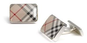 Burberry Rectangular Check Cufflinks