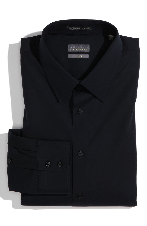 Calibrate Trim Fit Dress Shirt Calibrate Trim Fit Dress Shirt in Black