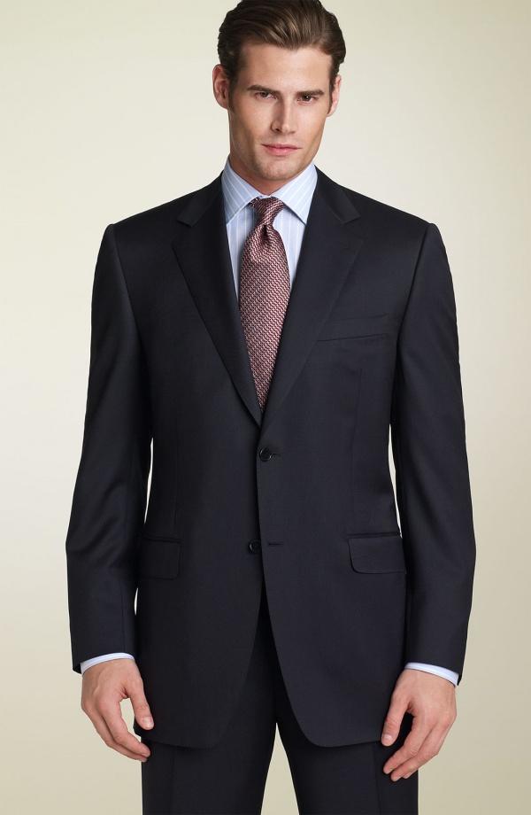 Canali Navy Wool Suit Canali Navy Wool Suit