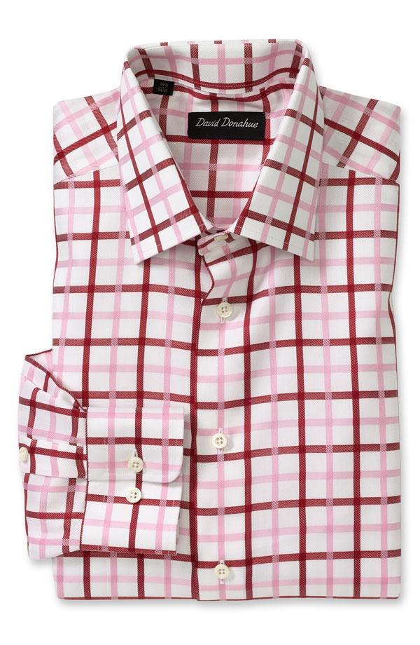 David Donahue Traditional Fit Plaid Dress Shirt David Donahue Traditional Fit Plaid Dress Shirt