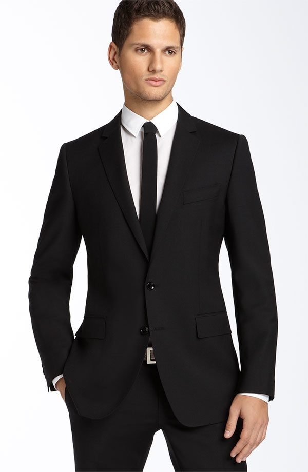 Dolce Gabbana Black Stretch Suit Dolce & Gabbana Black Stretch Wool Suit