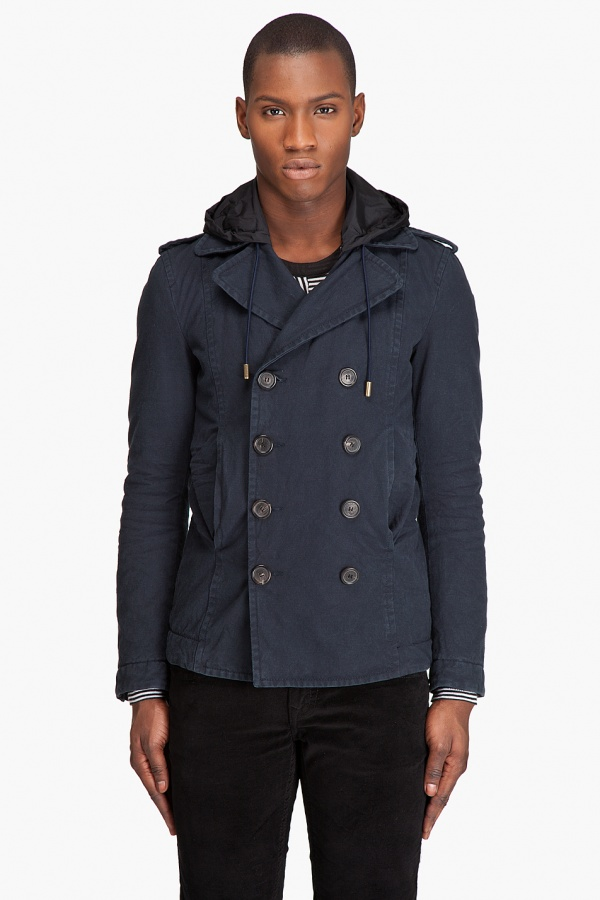 Dsquared2 Hooded Peacoat Dsquared2 Hooded Peacoat