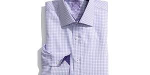 English Laundry Purple Stripe Trim Fit Dress Shirt
