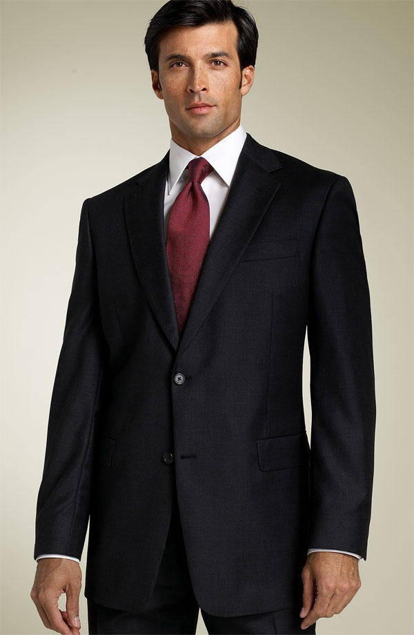 Hart Schaffner Marx Capital Collection Grey Wool Suit Hart Schaffner Marx Capital Collection Grey Wool Suit