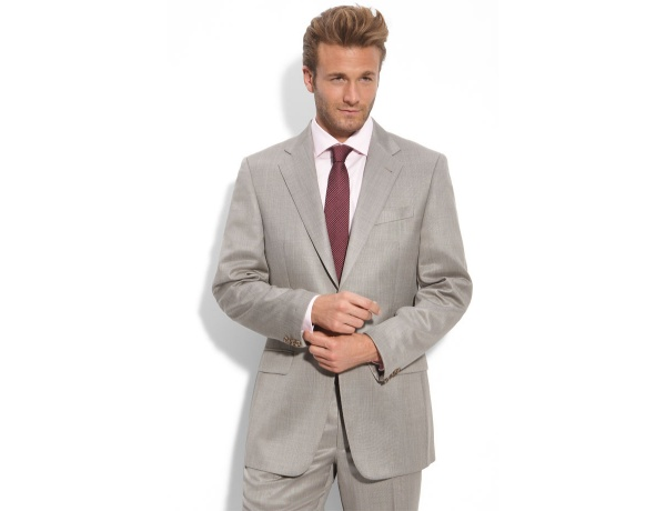 Joseph Abboud Tan Worsted Wool Suit Joseph Abboud Tan Worsted Wool Suit